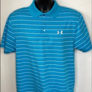 Under Armour Loose Heatgear Polo Shirt Sz Medium